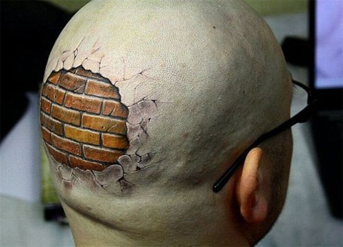 Break Head Tattoo Design