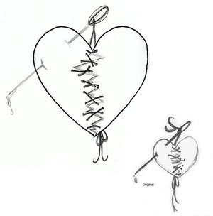 Broken Heart Tattoo Samples