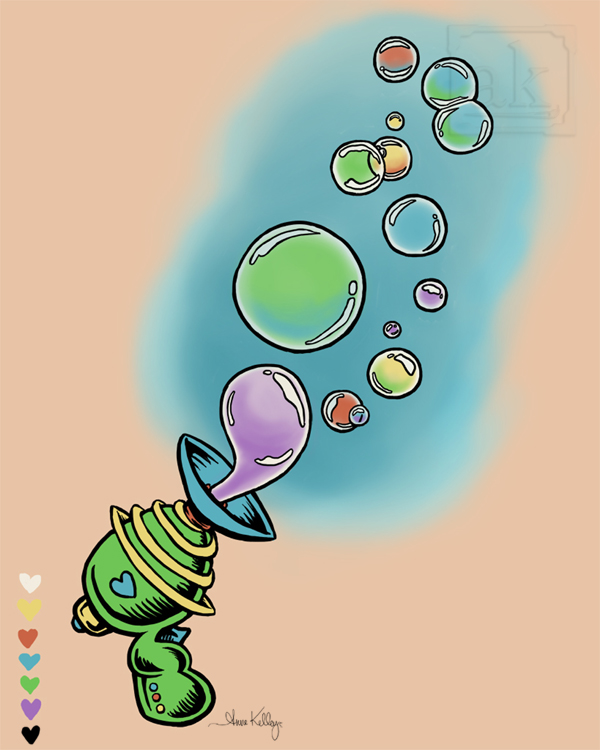 Bubble Gun Tattoo Design
