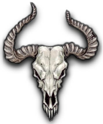 Cow skull tattoo flash - photo#5