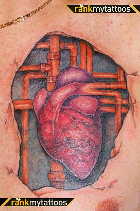 Celtic Heart Tattoo On Chest For Men