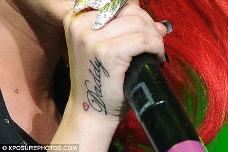 Cher Lloyd Hand Tattoo Design