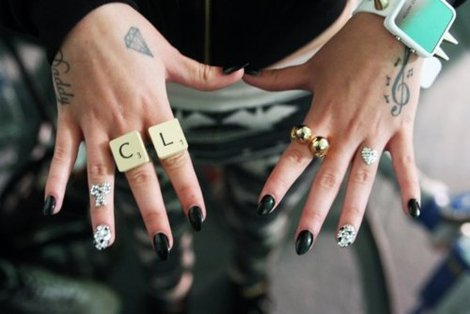 Cher Lloyd Hand Tattoo Designs