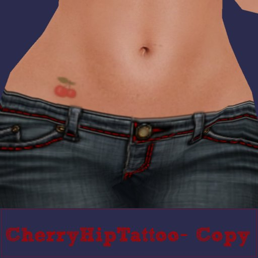 Cherry Hip Tattoo Design