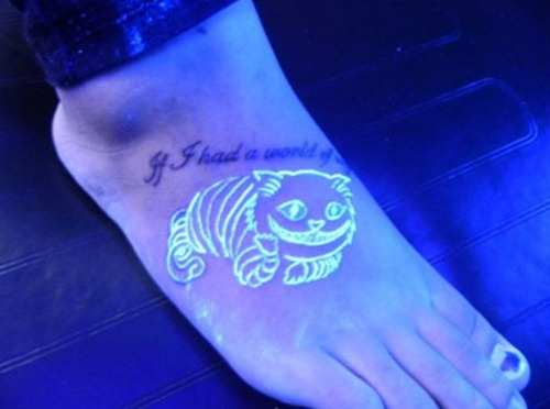Cheshire Cat Foot Tattoo Design