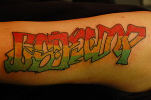 Color Ink Graffiti Tattoo Design