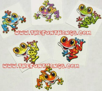 Colorful Frog Tattoo Designs