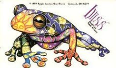 Colorful Frog Tattoo Sample