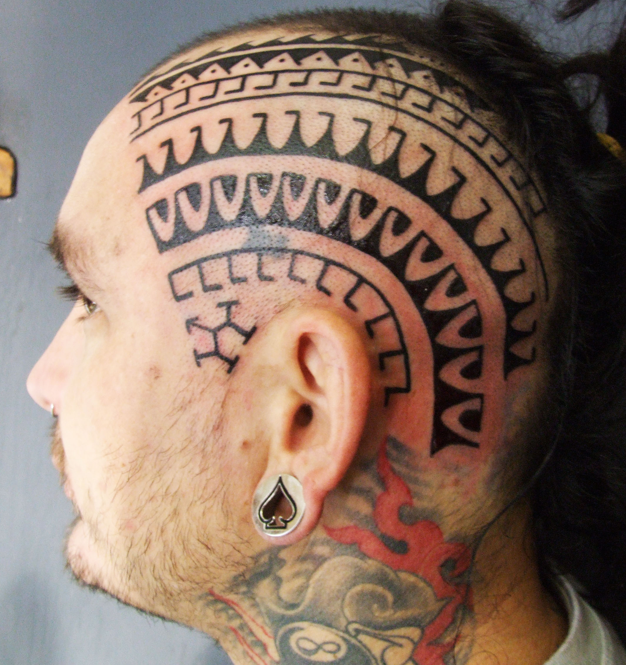 Cool Head Tattoo Design For Men