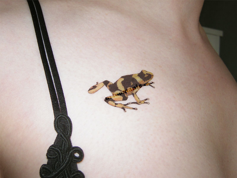 Cool Small Frog Tattoo