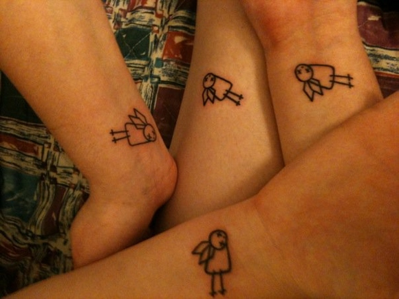 Cute Matching Tattoo For Best Friends