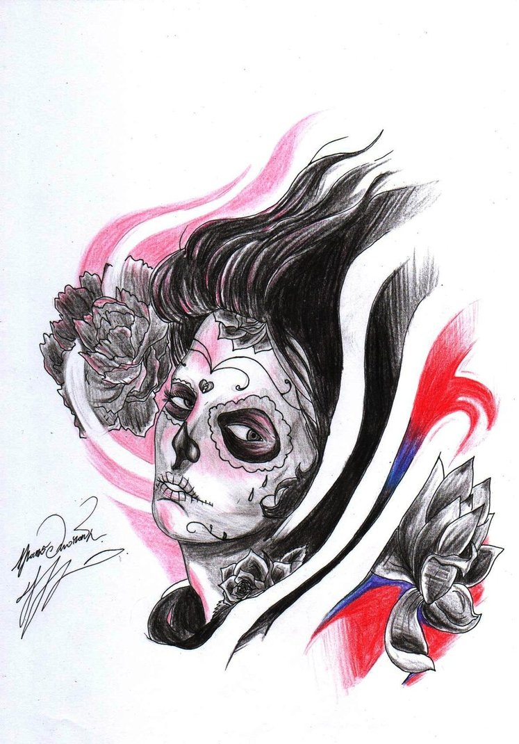 Death Girl Tattoo Sample