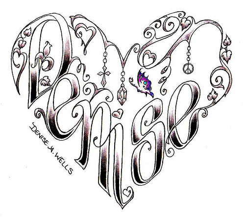 Denise Heart Tattoo Design