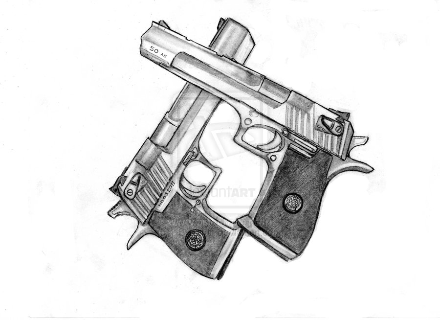 Desert Eagle Gun Tattoo Sample