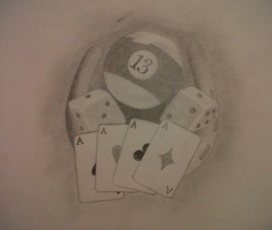 Dice n Gambling Cards Tattoo Design