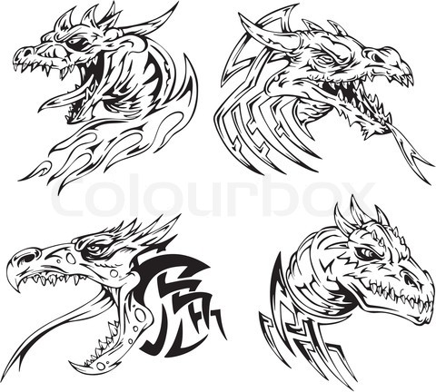 Dragon head tattoo setjpg 480432 Leather Tooling