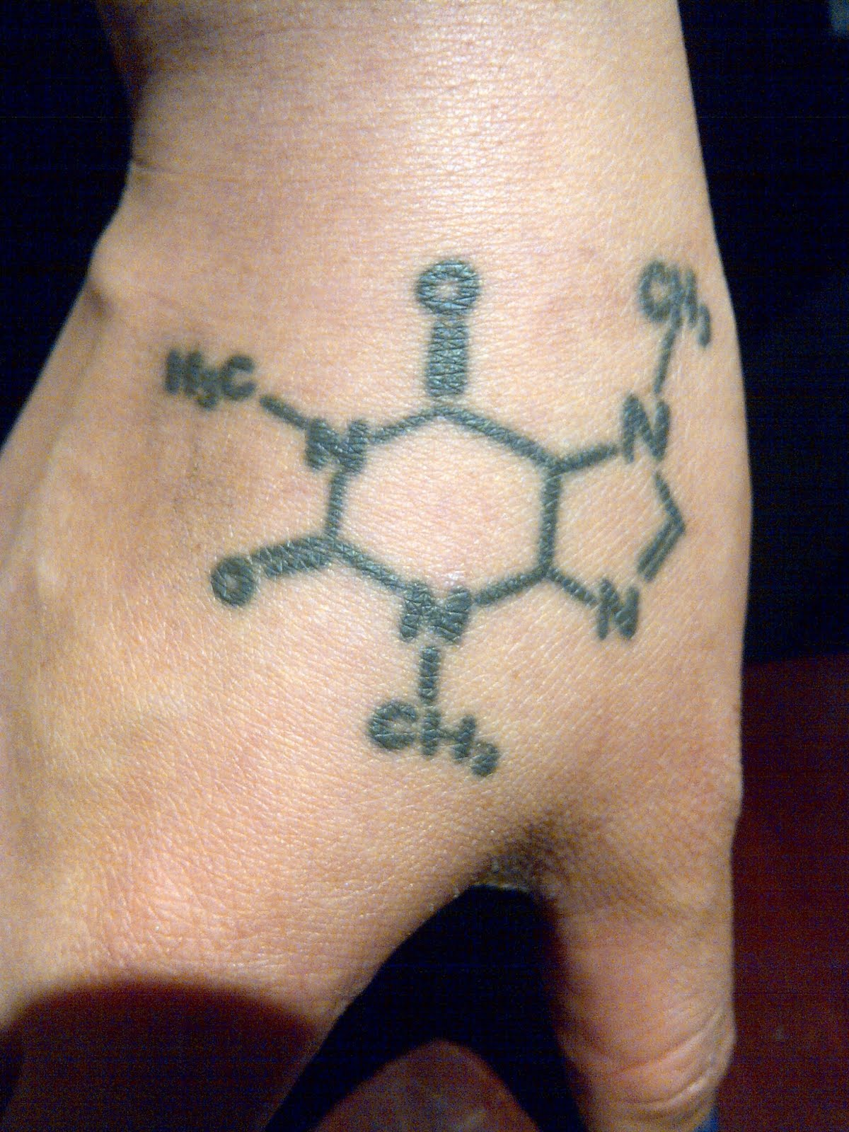 Drugs Formula Hand Tattoo Design