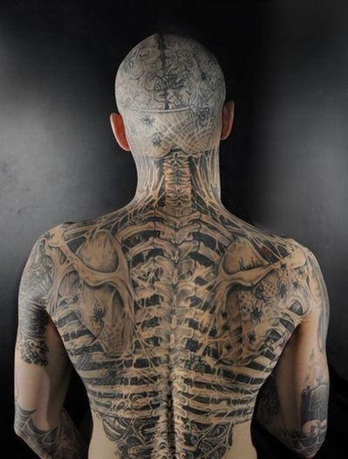 Extreme Full Body Tattoo Design