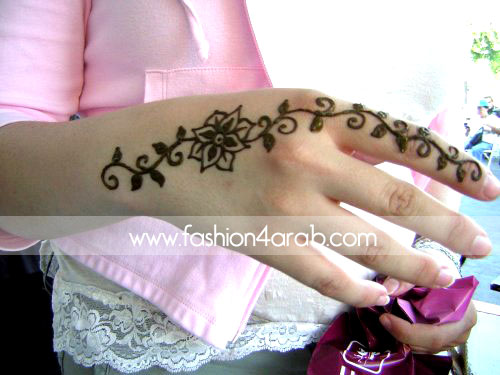 Feminine Henna Flower Tattoo On Hand