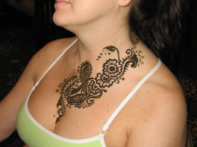 Henna Tattoo Chest  Wwwpixshark  Images Galleries