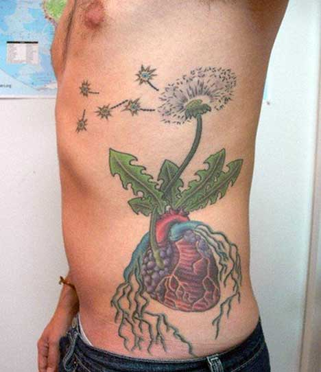 Flower Tattoo For Men On Rib Side