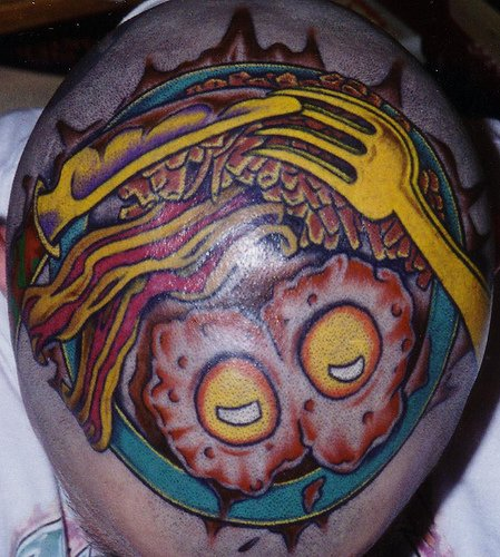 Food Tattoo On Head