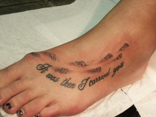 Footprints Tattoo For Your Foot