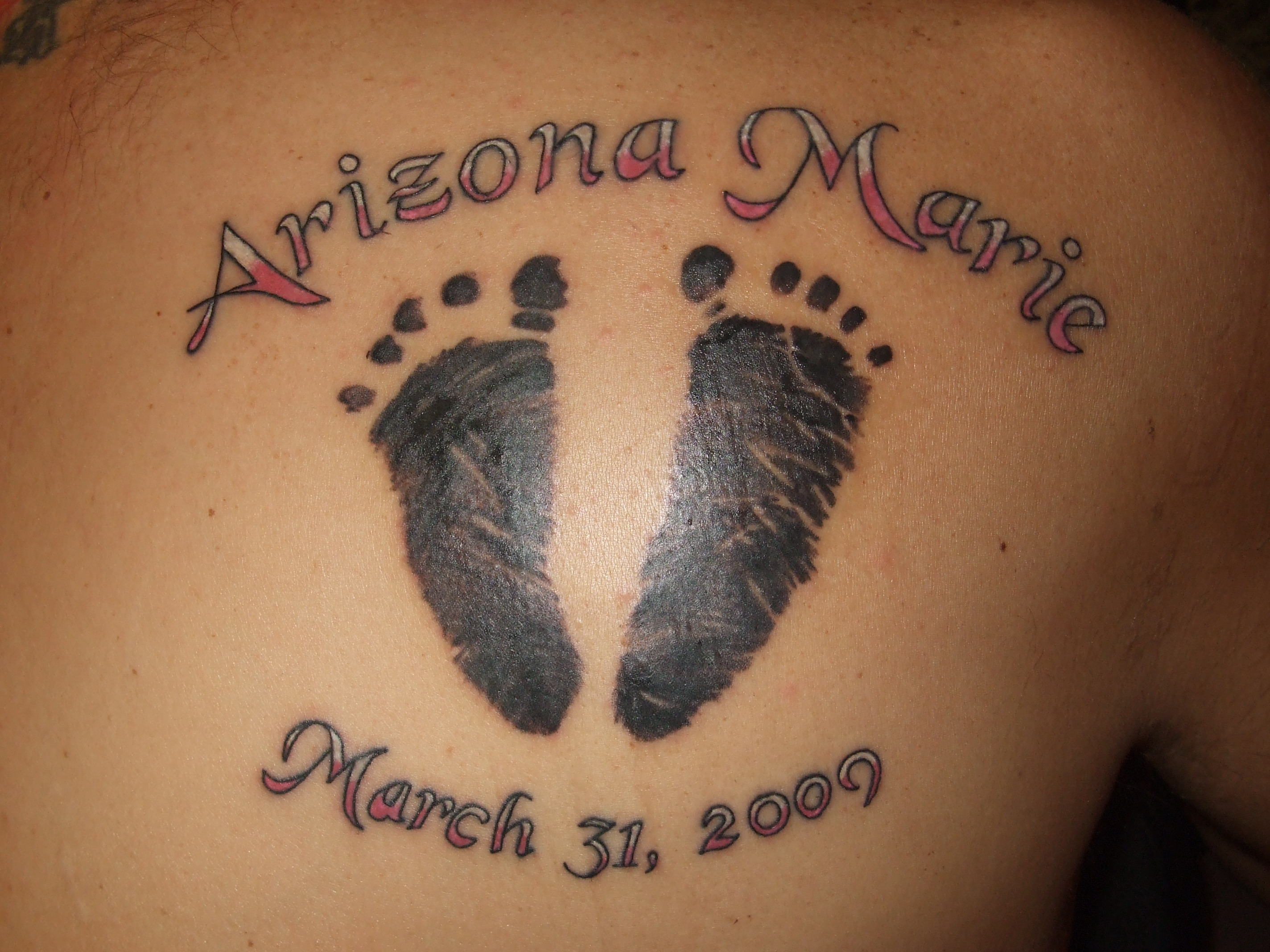 Footprints Tattoo With Name