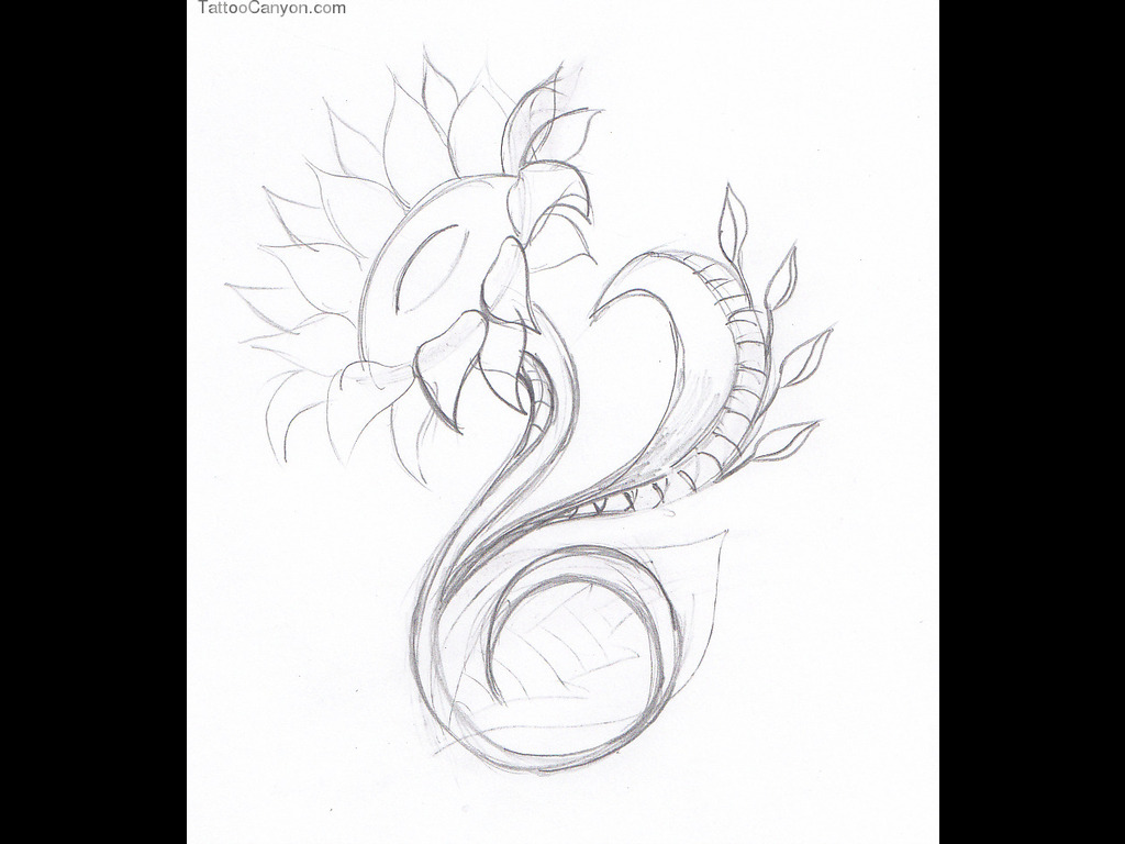 Free Flower Tattoo Drawing