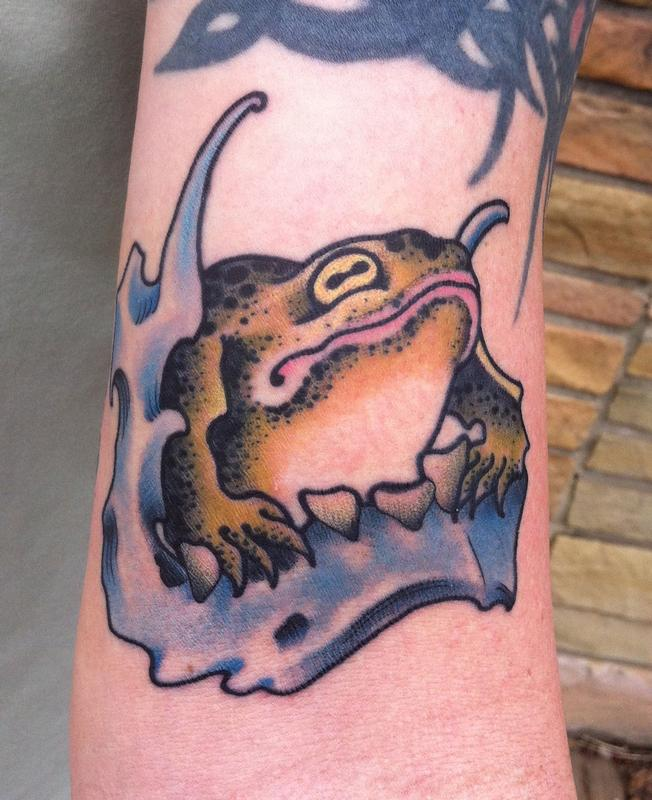 Frog Color Tattoo Design