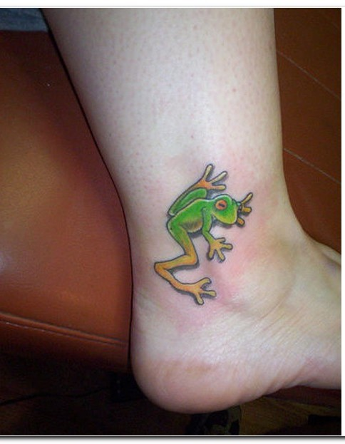 Frog Tattoo On Ankle