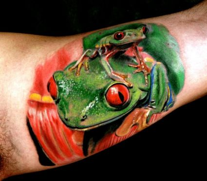 Frog Tattoo On Inside Of Arm