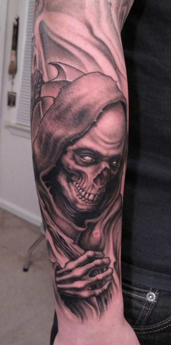 Grim Reaper Sleeve Tattoo