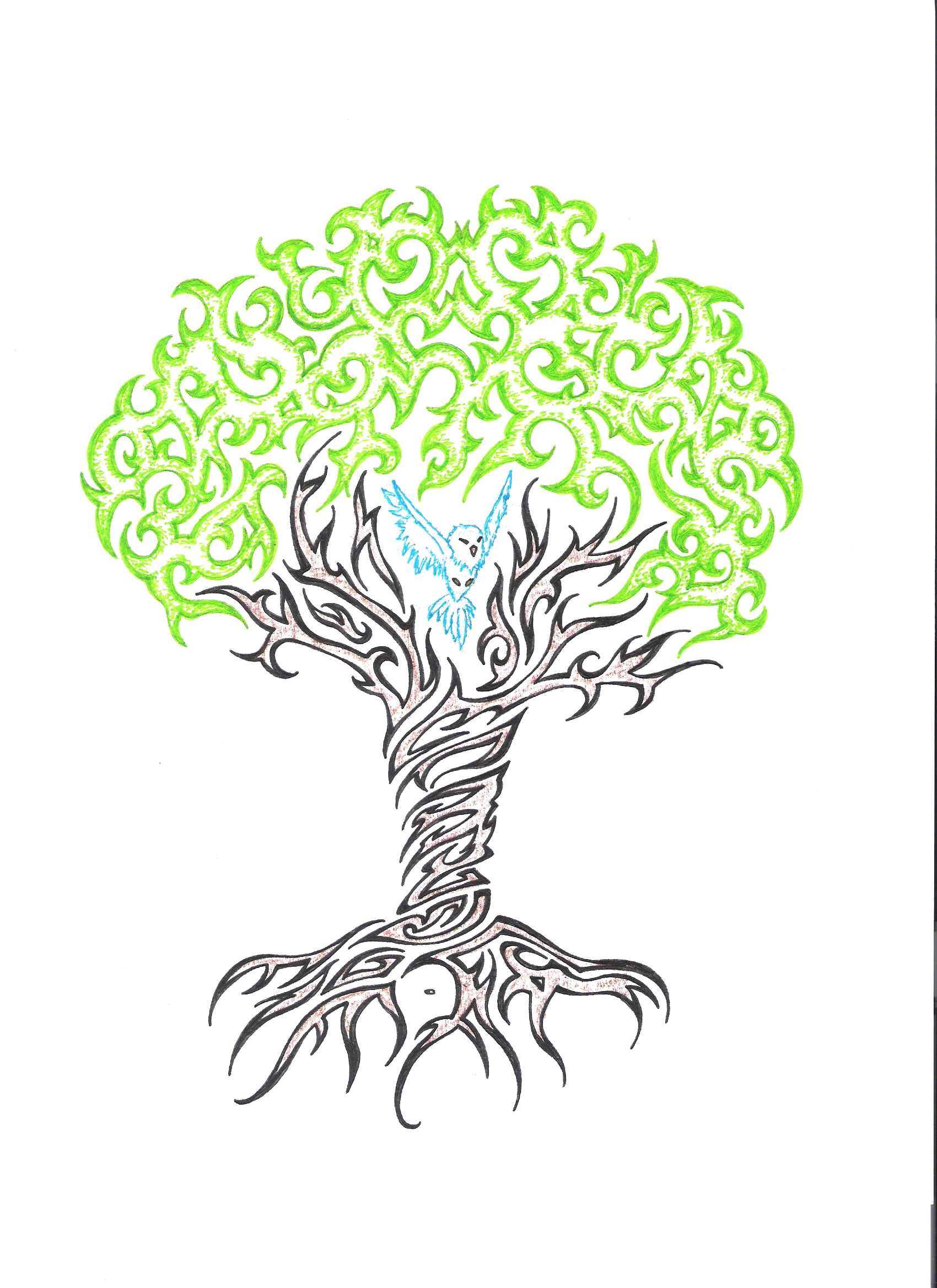 Funky Tree Tattoo Sample