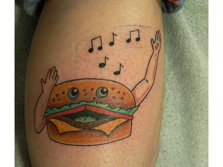 Funny Burger Tattoo Image