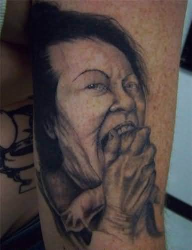Funny Face Tattoo Picture