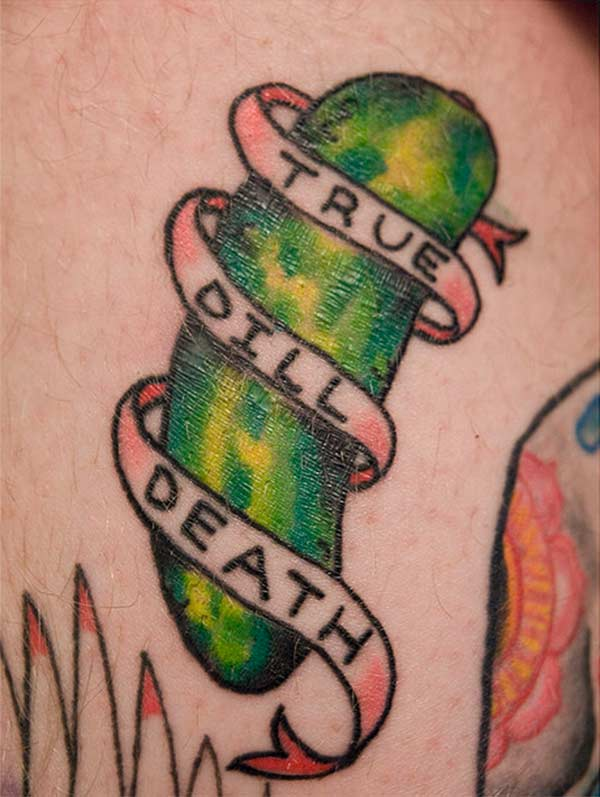 Funny Food Tattoo Design