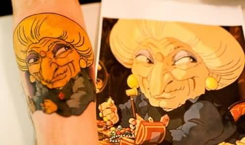 Funny Old Lady Tattoo Picture