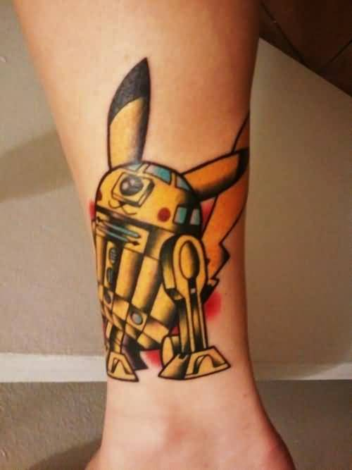 Funny Pokemon Tattoo Design