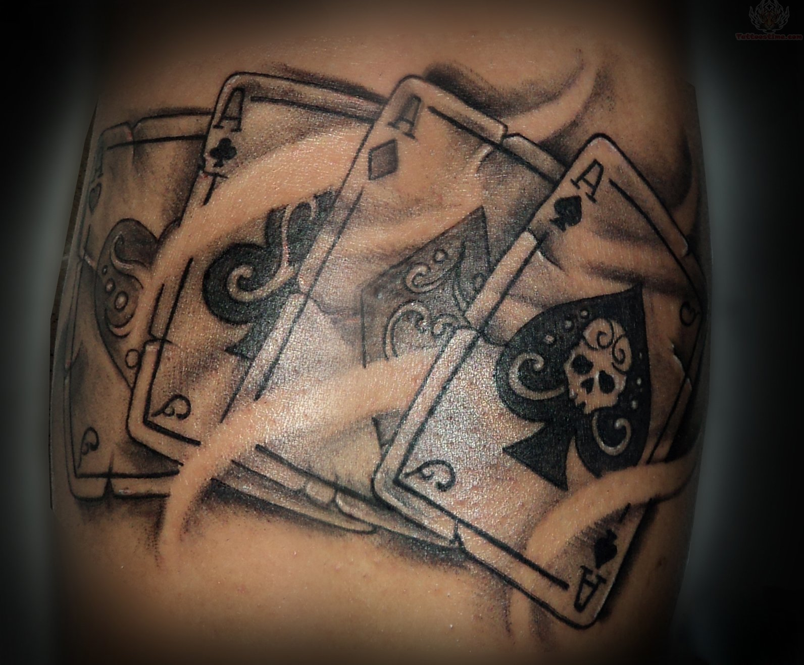 Gambling Cards Tattoo Design
