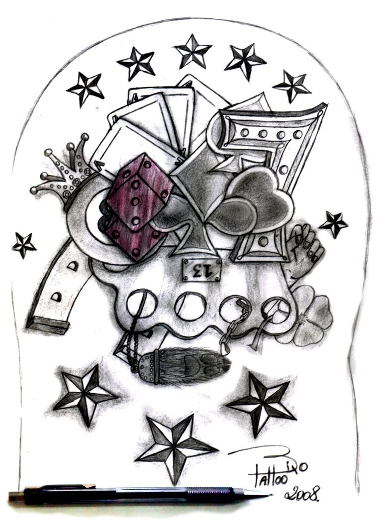 Gambling Tattoo Designs