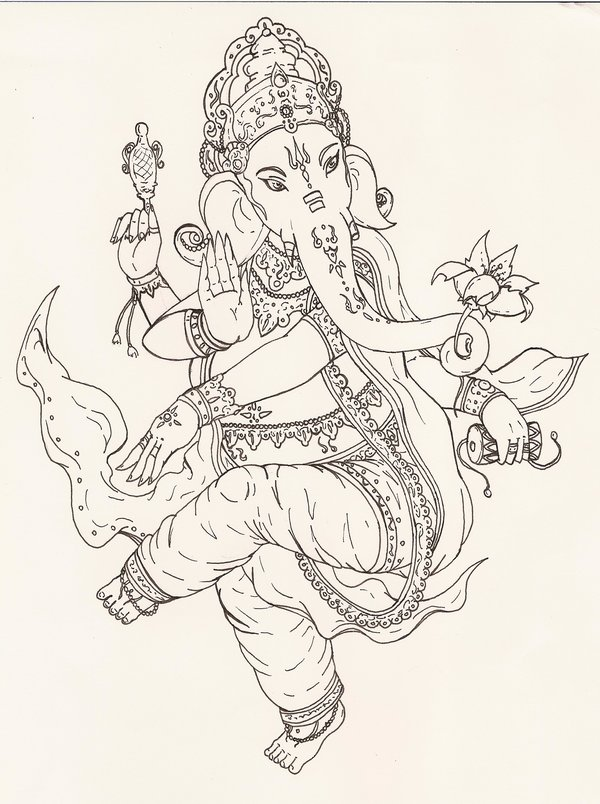 Ganesha Tattoo Sketch