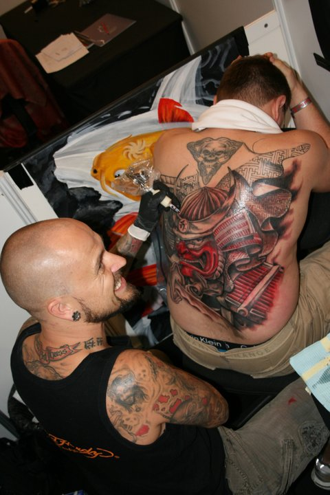 Gangsta Tattoo On Full Back For Men