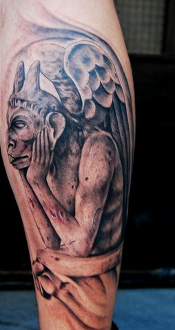 Gargoyle Thinking Tattoo Design