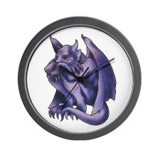 Gargoyle Wall Clock Tattoo Sample