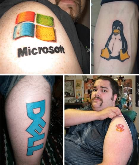 Geek Computer Logos Tattoo Pictures