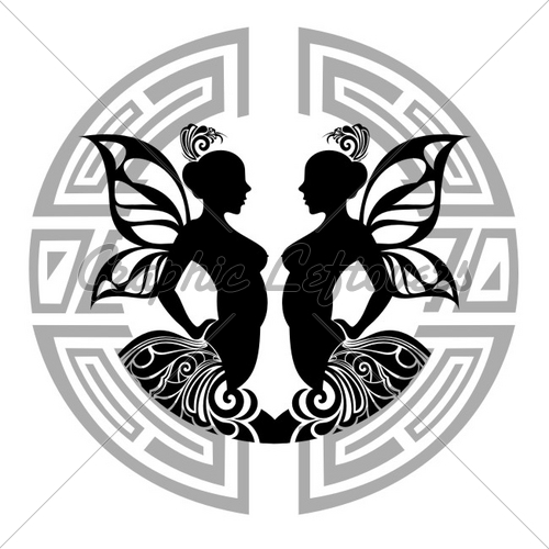 Gemini Sign Tattoo Design