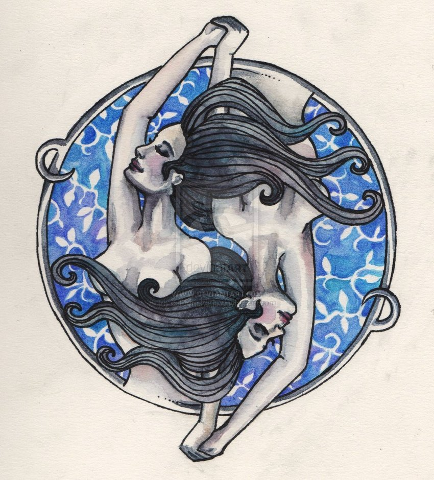 Gemini Tattoo Drawing