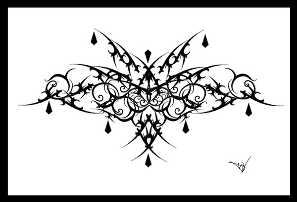Gothic Lace Filigree Tattoo Design