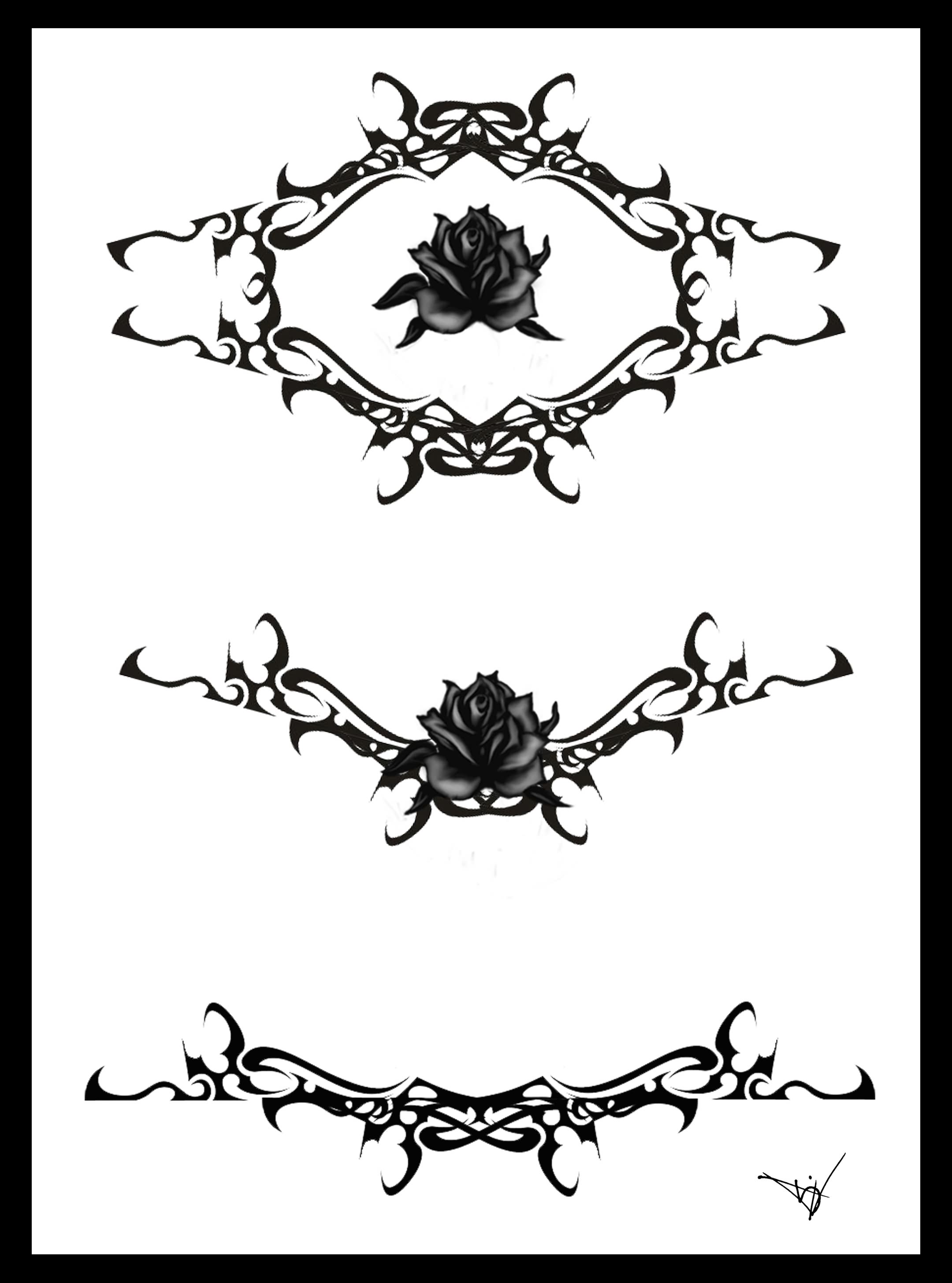 Gothic Lace Tattoo Designs